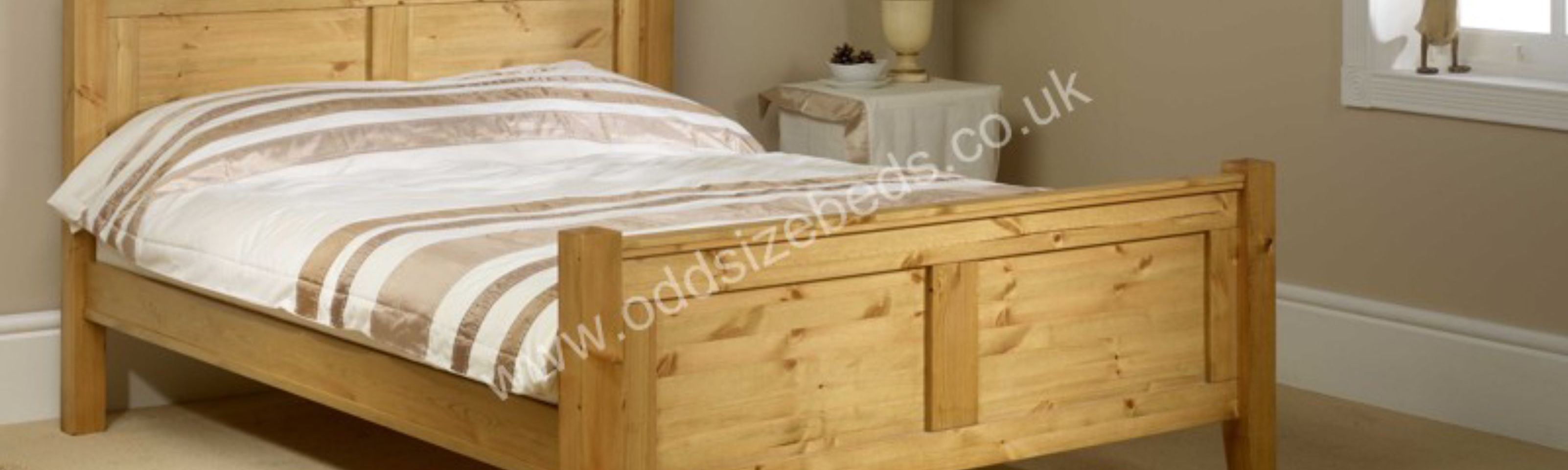 Coniston Wooden Bed High Foot End