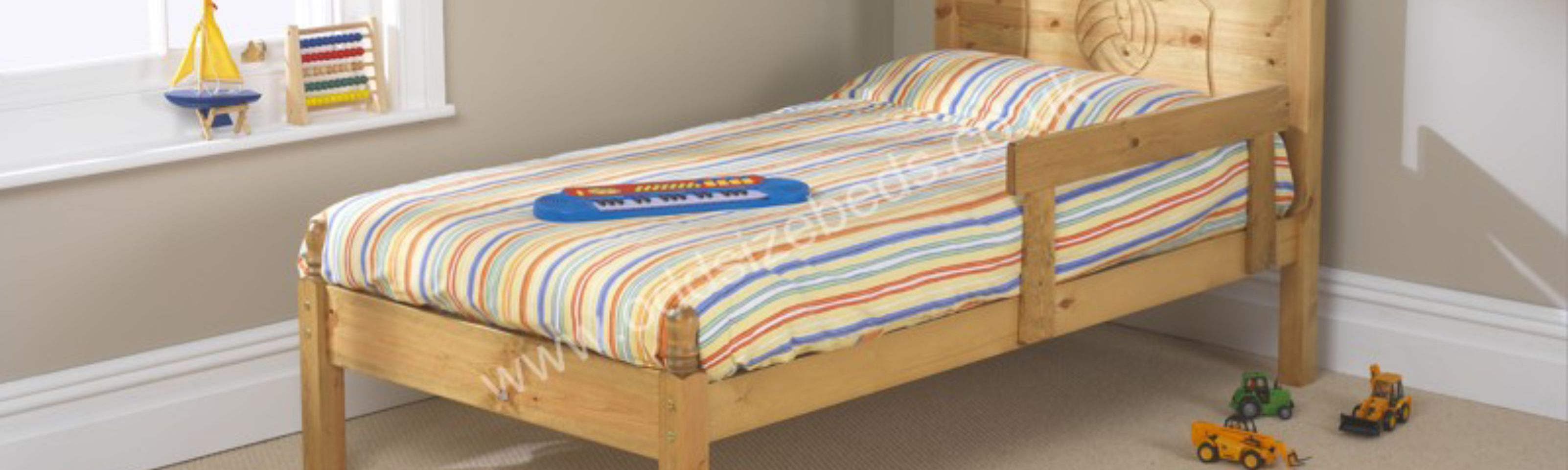 Child's Wooden Bed – Football Motif