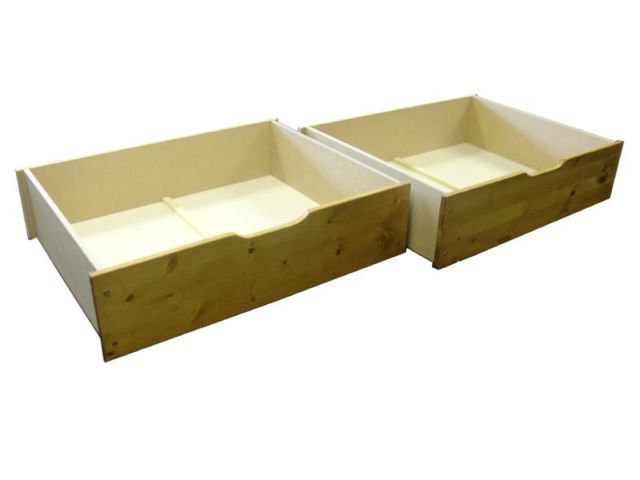 Underbed Pine Storage Drawers
